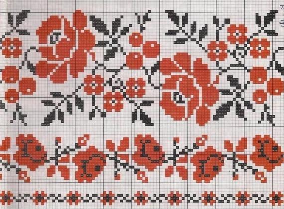 Схема узора для вышивки