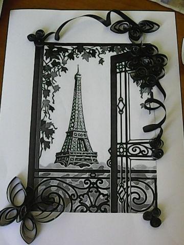 окно в Париж квилинг