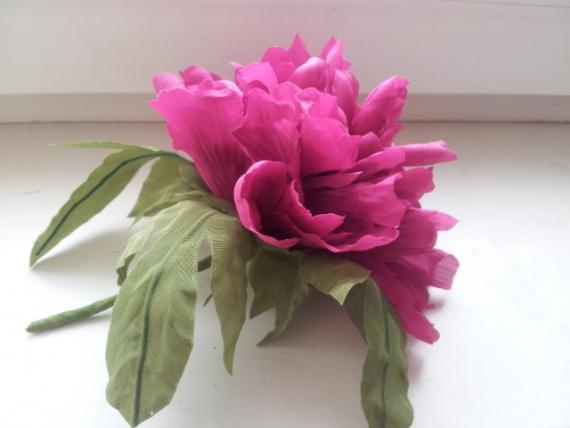 Мои цветы из ткани.