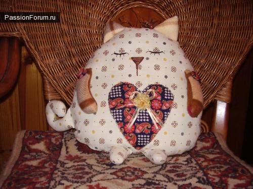 игрушка-подушка котик-сплюша