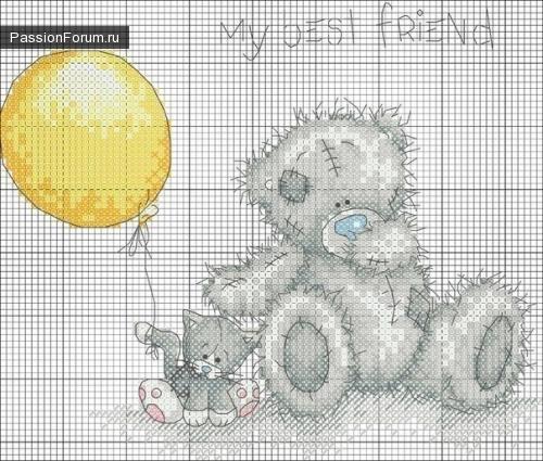 Вышивка. wpid LM7DI2rkXyk Мишки Тедди.