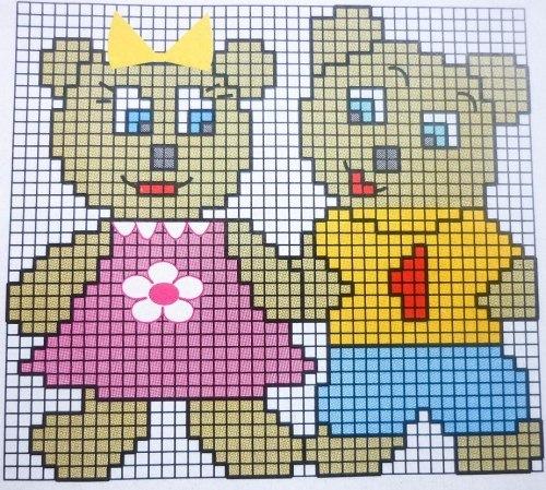 Детские схемы для вязания и вышивки. Swedish weaving, Stitch