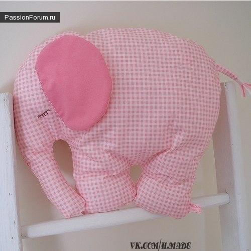 Выкройка слоника и мастер класс по пошиву