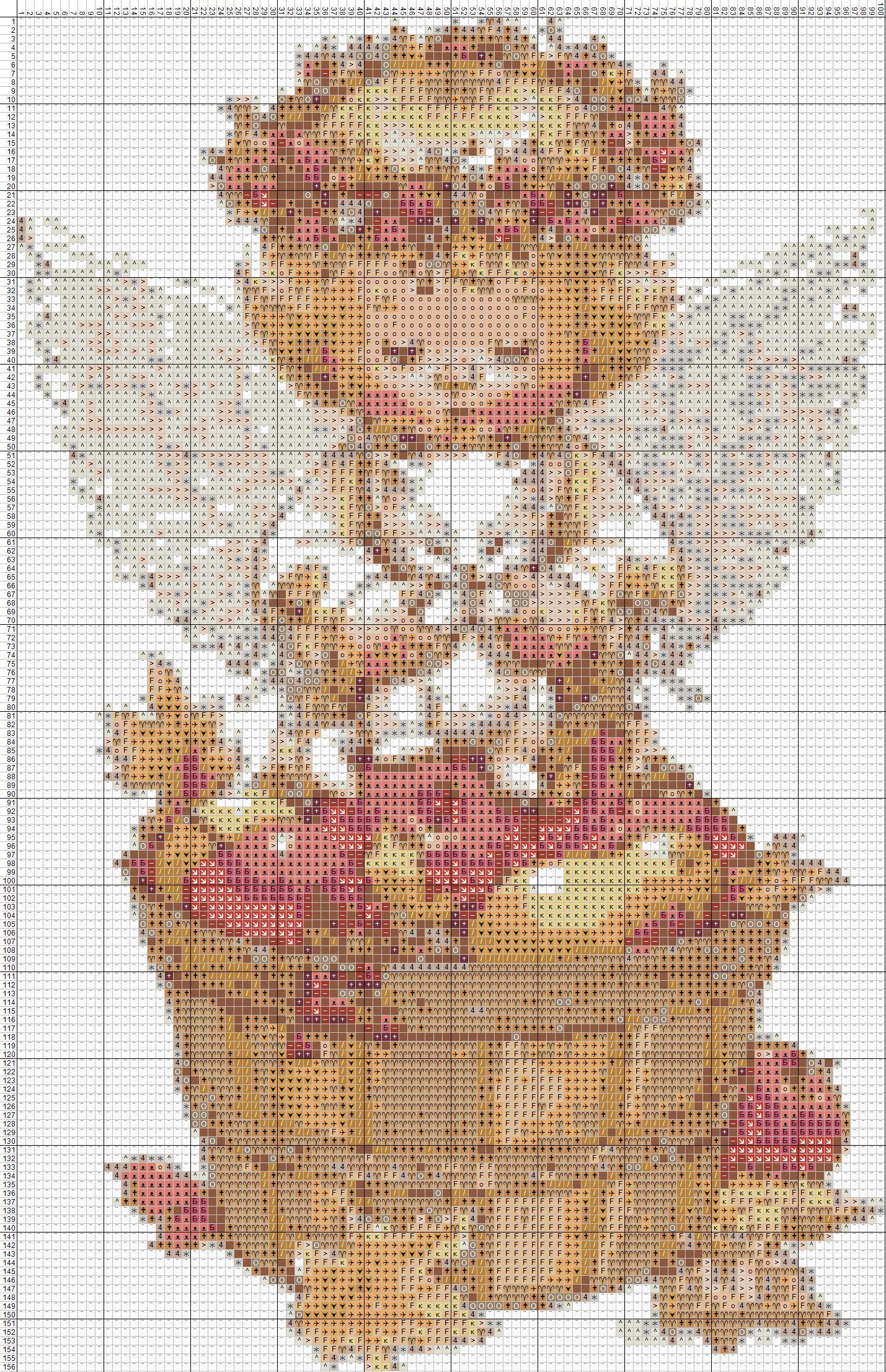 схема вышивания крестиком ангелочка