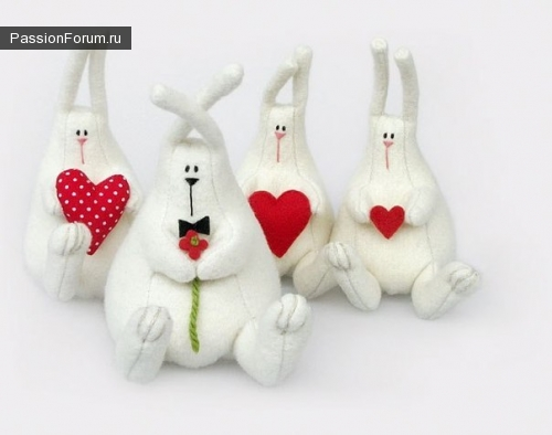 Куклы зайцы своими руками фото