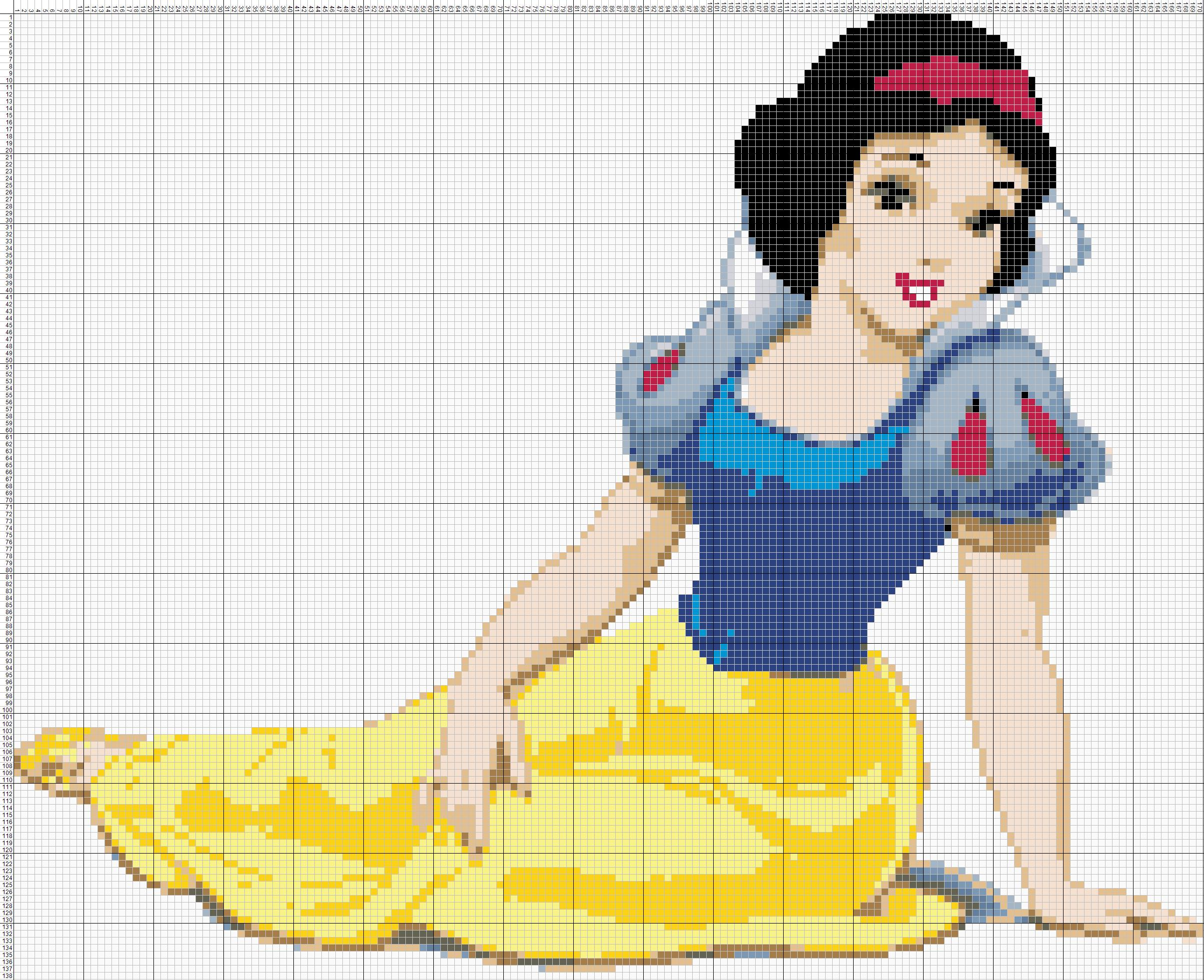 Схема вышивки крестиком принцесса