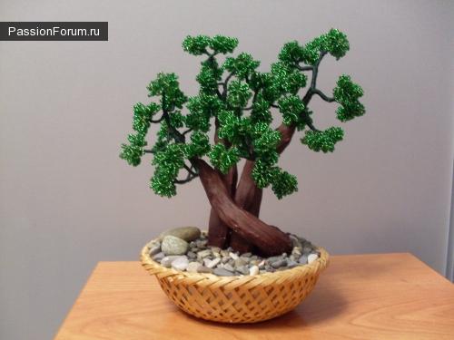 Наше первое деревце из бисера