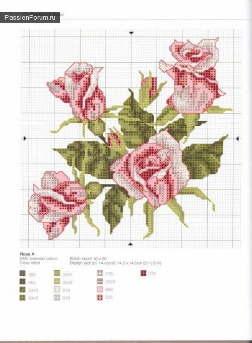 Вышивки из бисера схемы цветы 9