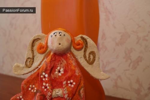 Ангел, домашний оберег из соленого теста