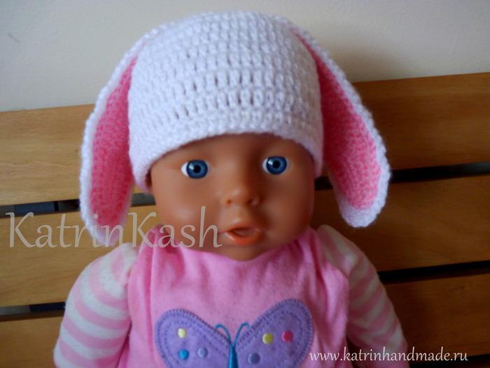 shapochka-kryuchkom-s-ushkami-dlya-novorozhdennogo. Схемы вязание крючком шапочки для новорожденных