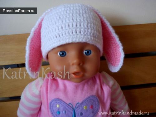 Очень красивая шапочка для новорожденных