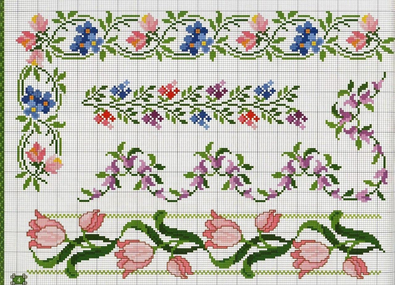 Орнаменты вышивки цветы