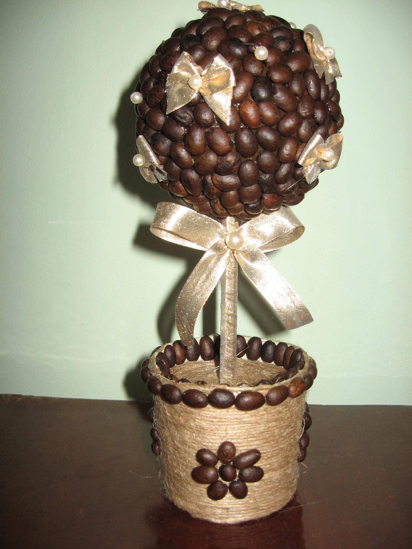 Кофейный топиарий своими руками пошаговое