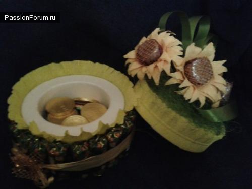 торт шкатулка свит-дизайн и туфелька для коробки конфет