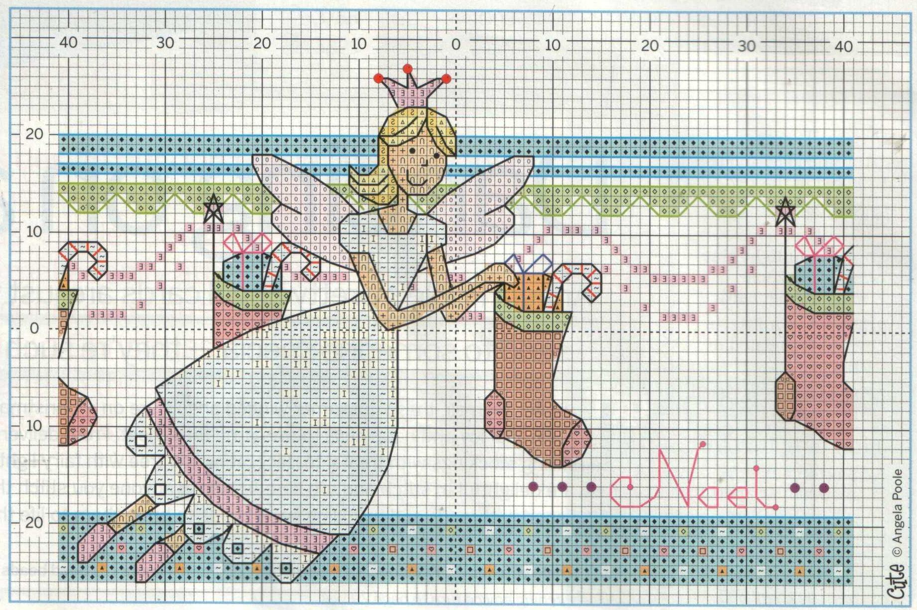 Вышивка крестом новогодних открыток и 931