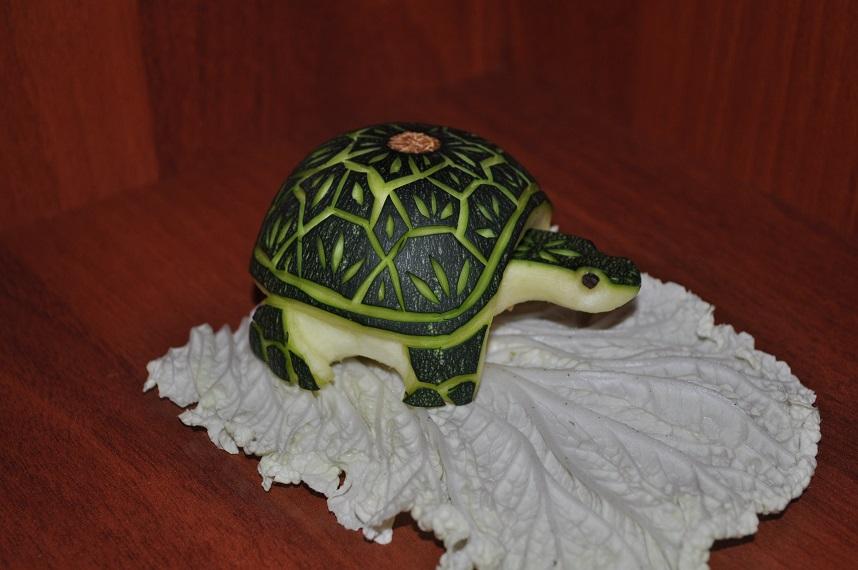 Поделка из кабачка черепаха