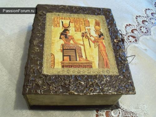 "Шкатулка-книга""Египетские мотивы"""