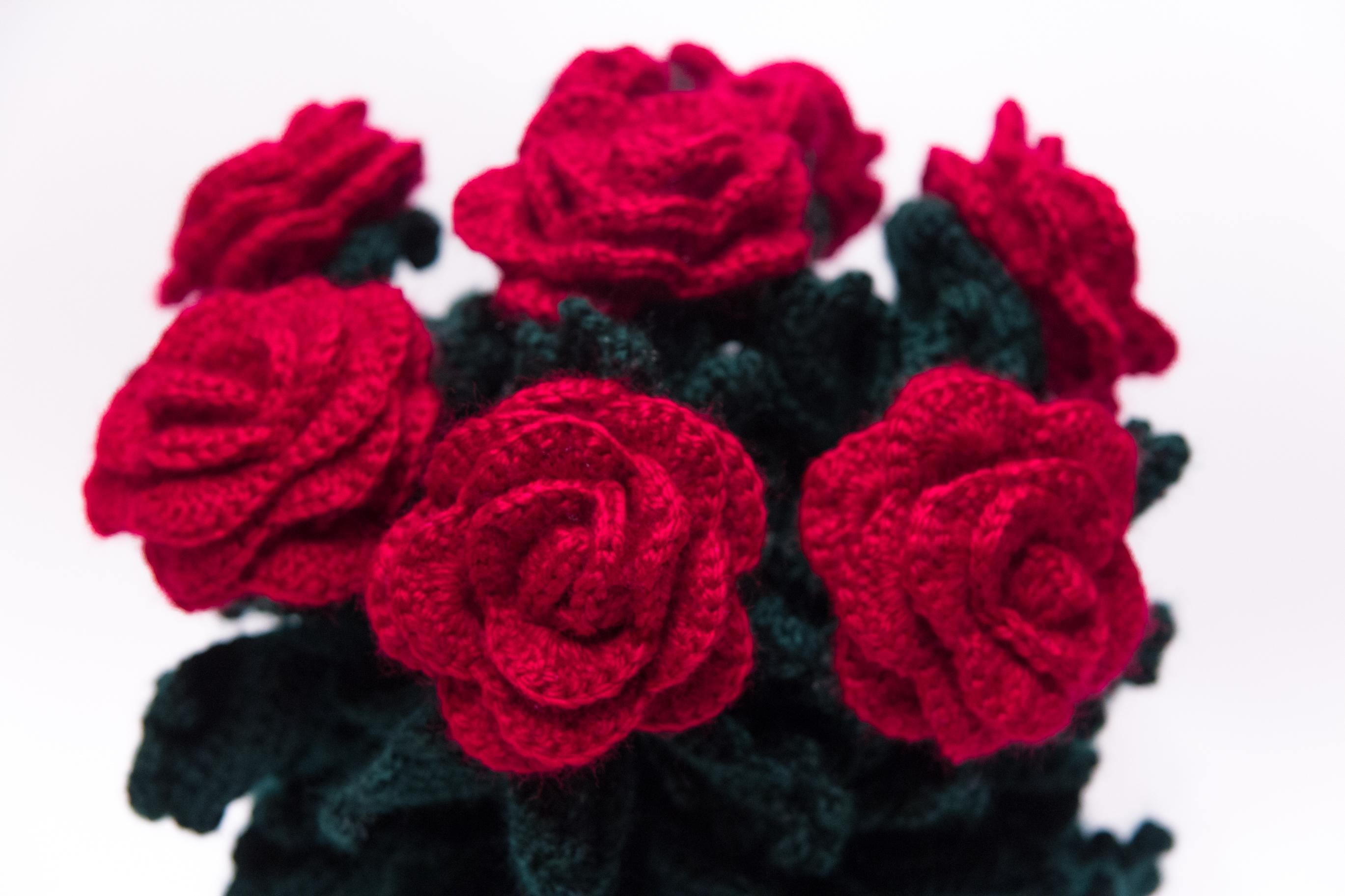 Вязание крючком розы со схемами фото 785