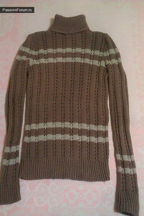 Зимний комплект, свитер, берет, шарф.