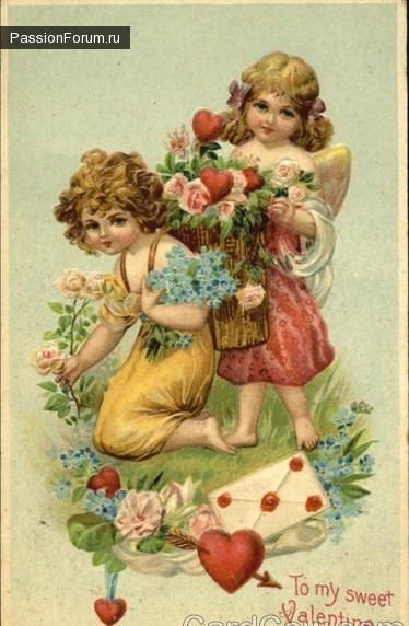 Винтажные открытки ко дню св. Валентина
