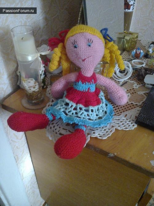 Моя первая кукла. Не судите строго))