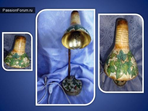Реставрация старых вещей - настольная лампа. Органайзер