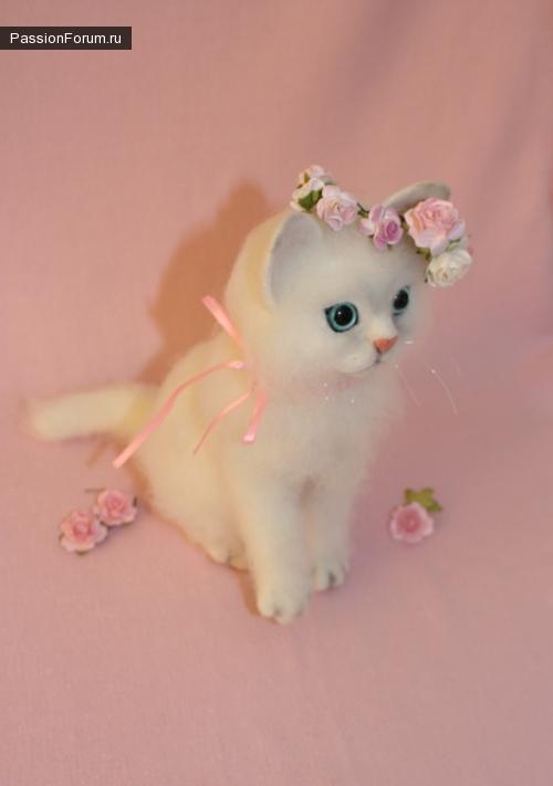 Кошка Снежка.