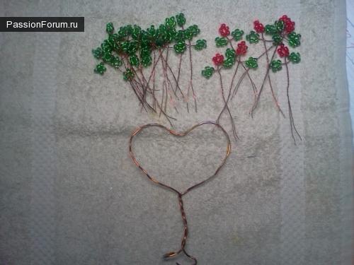 Дерево любви из бисера.