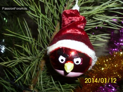 Елочное украшение Angry Birds