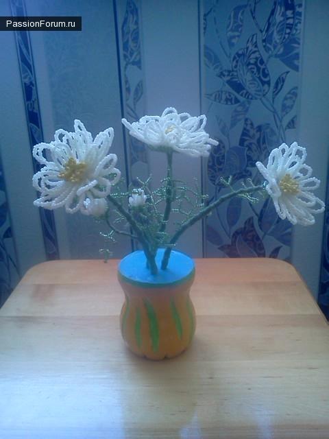 Несколько цветов из бисера