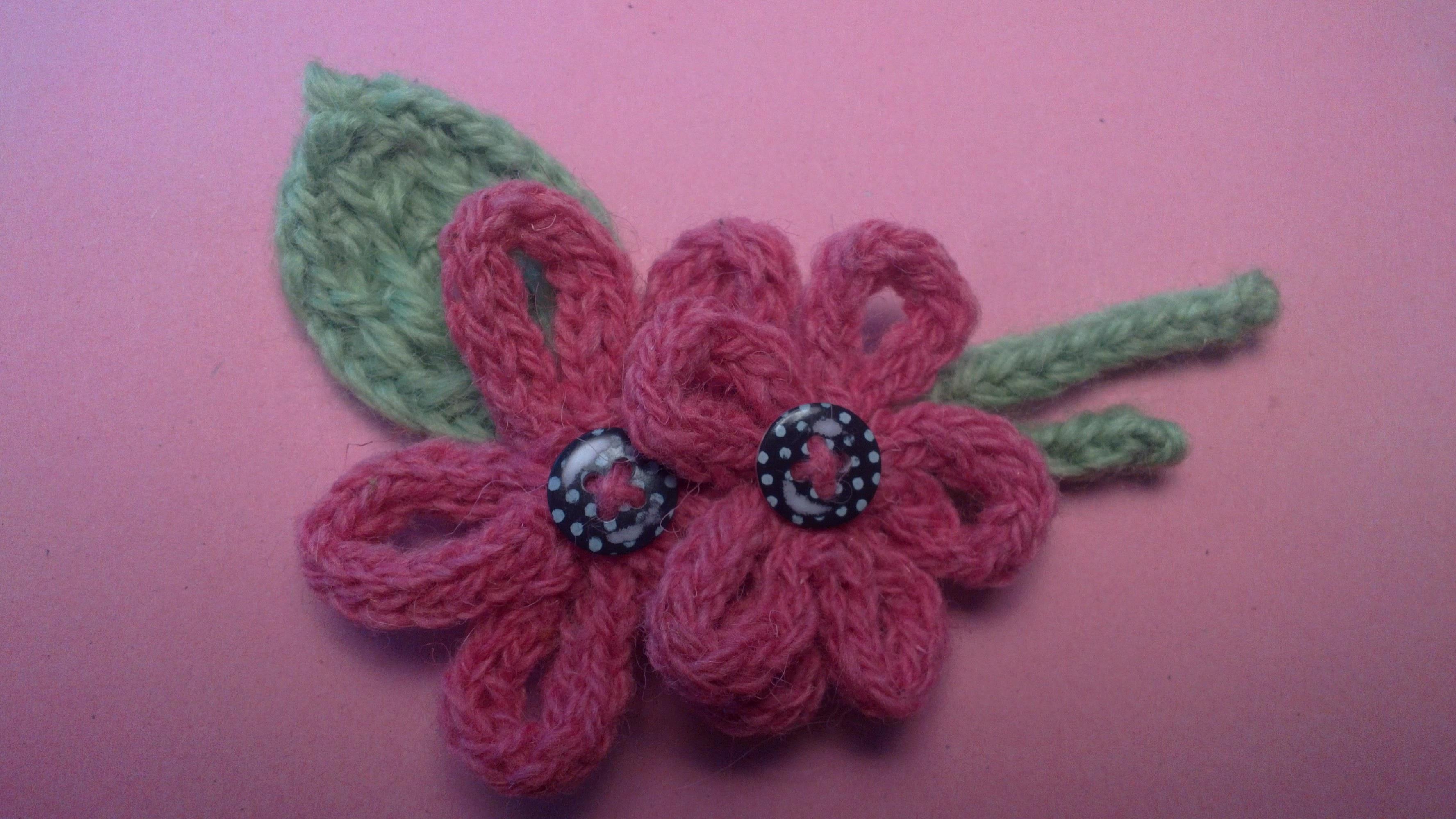 Вязаные цветы для украшения детской одежды - запись ...