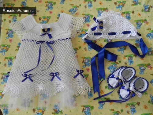 крестильное платье для девочки крючком