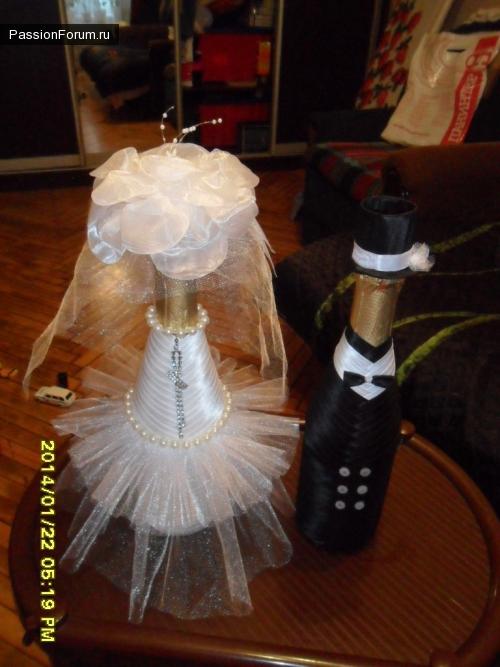 Мои свадебные бутылочки как и обещала.