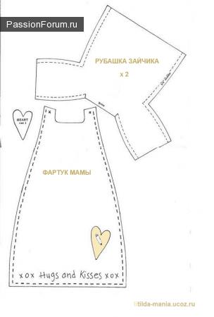 Изображение чердачная кукла выкройка из коллекции шитьё, вязание крючком и спицами на сайте Пинми.ру. шитьё...