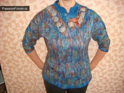 валянная блуза