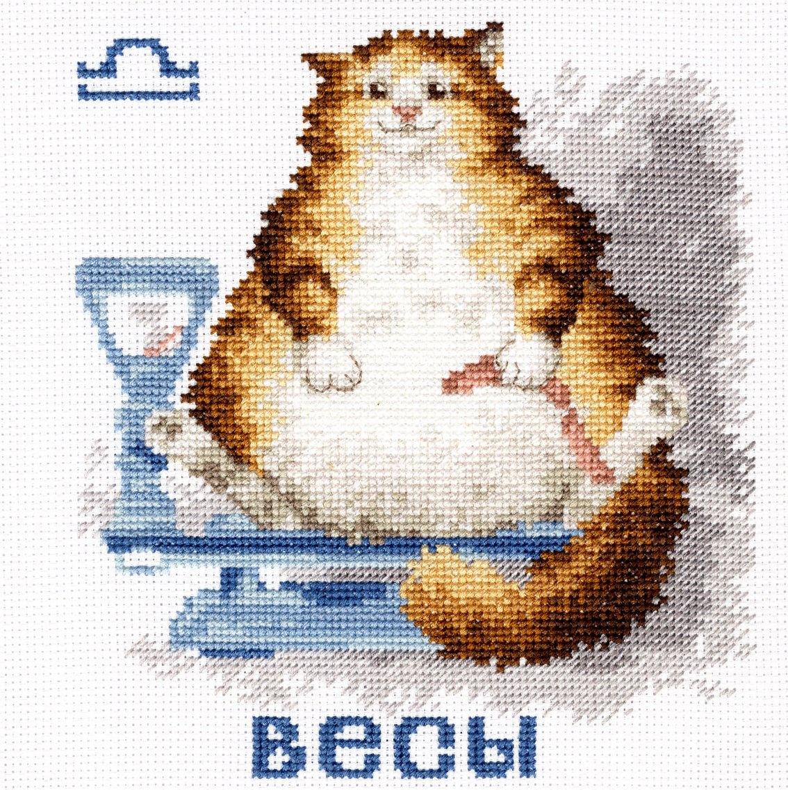 Вышивка кот обозначение