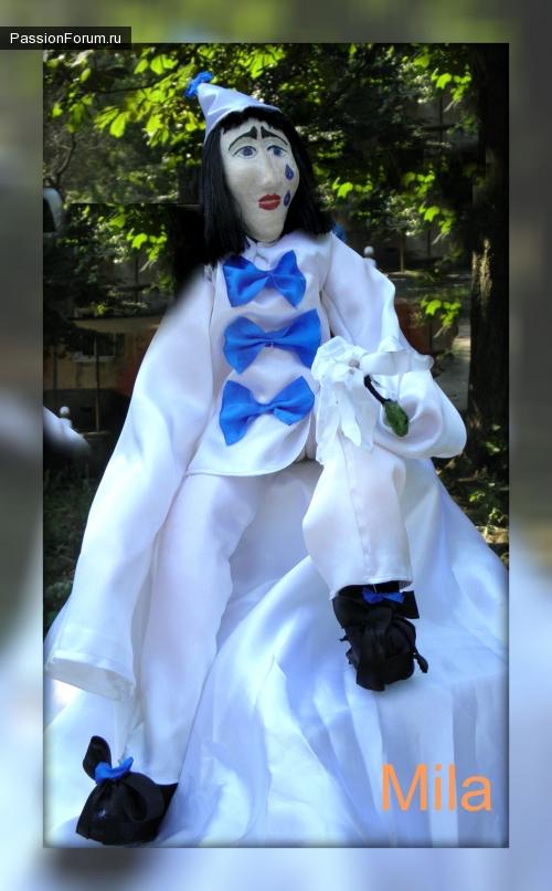 Интерьерная кукла Пьеро