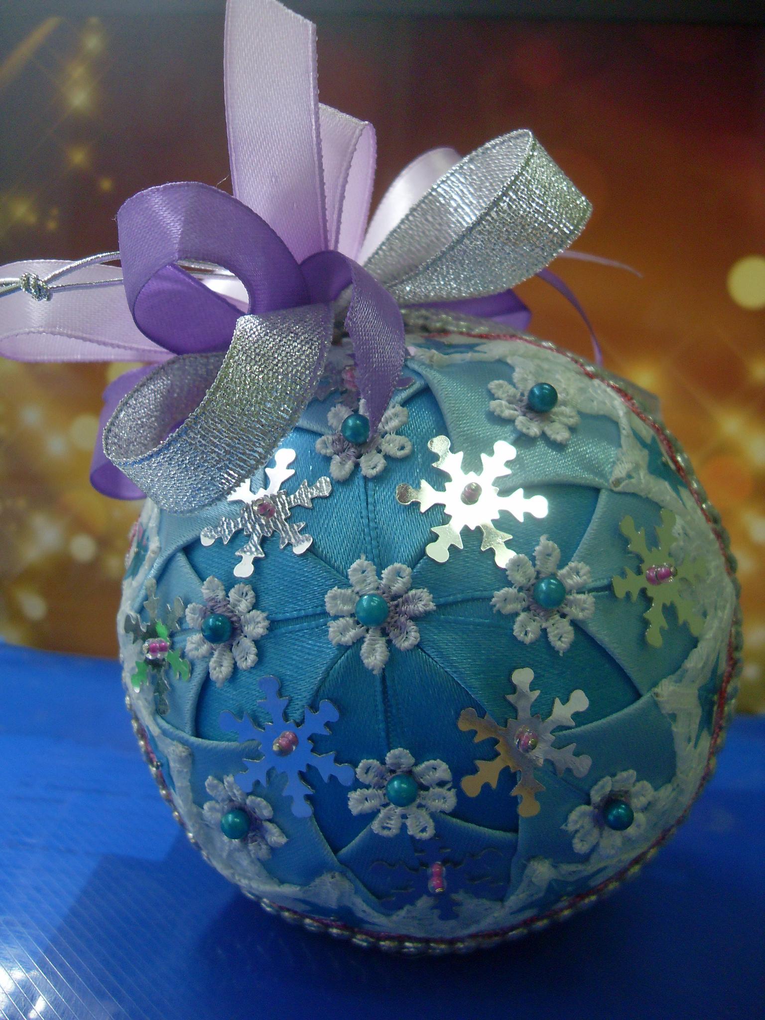 поделка новогодний шар своими руками фото приглашает всех