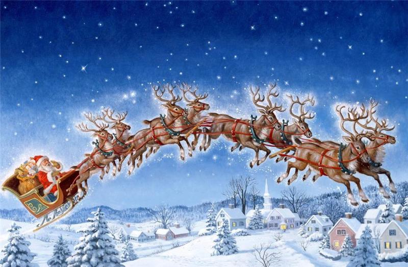 Любимой, открытка волшебного нового года
