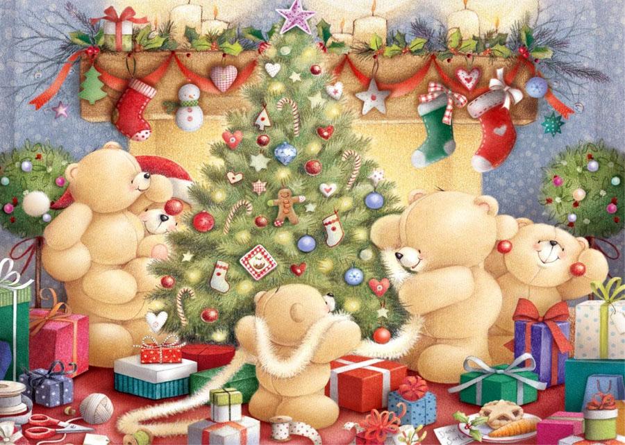 Открытке днем, открытки с новогодними мишками