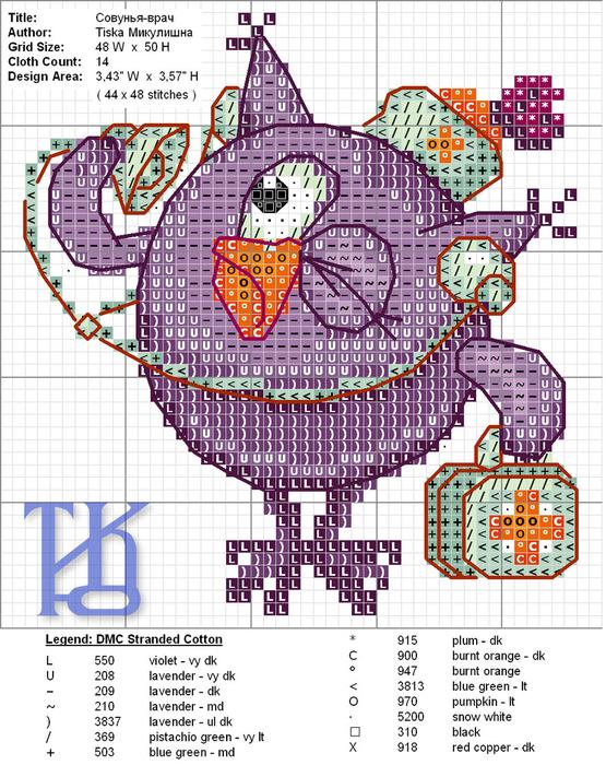 Схема для вышивки крестом доктор 822