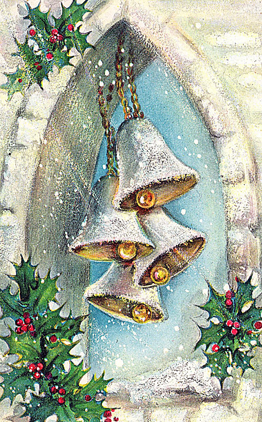 Новогодне рождественская открытка