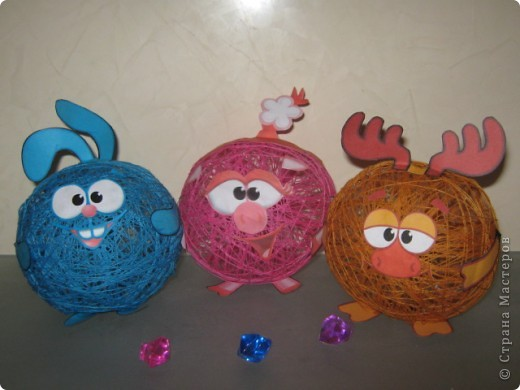 Новогодняя игрушка смешарики своими руками