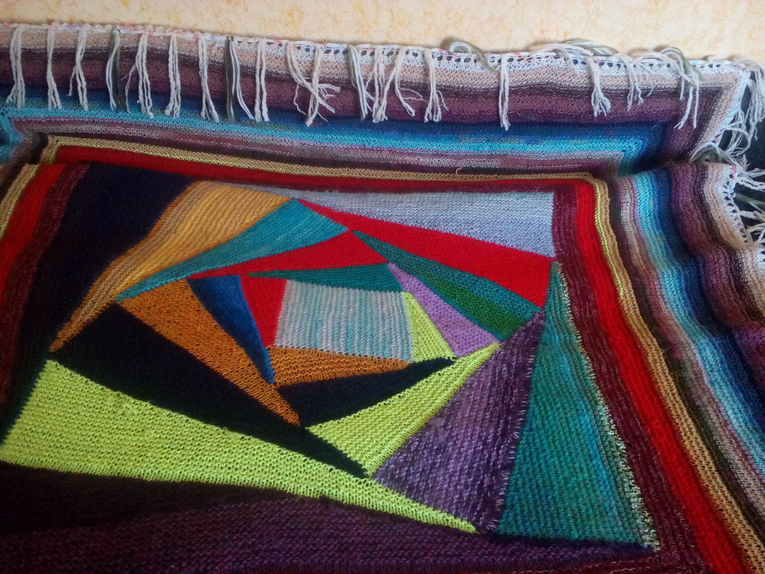 Вязание пледа по спирали