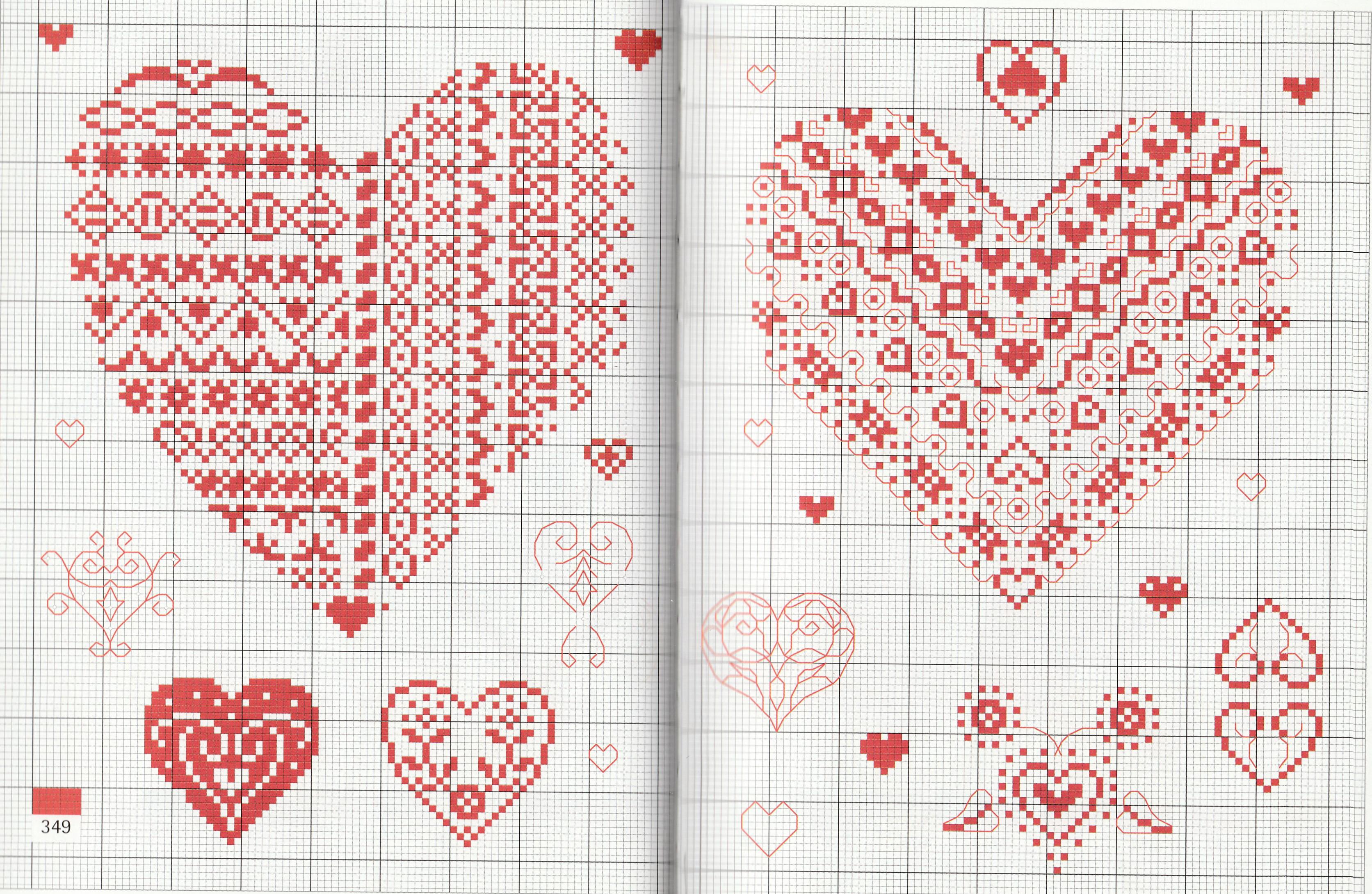 Как вышивать сердце на открытке