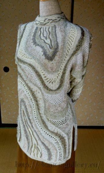 фриформ спицами японской мастерицы Yoko Asada запись пользователя