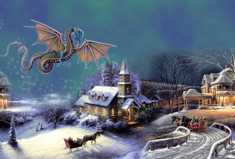 Новые поздравления с новым годом дракона