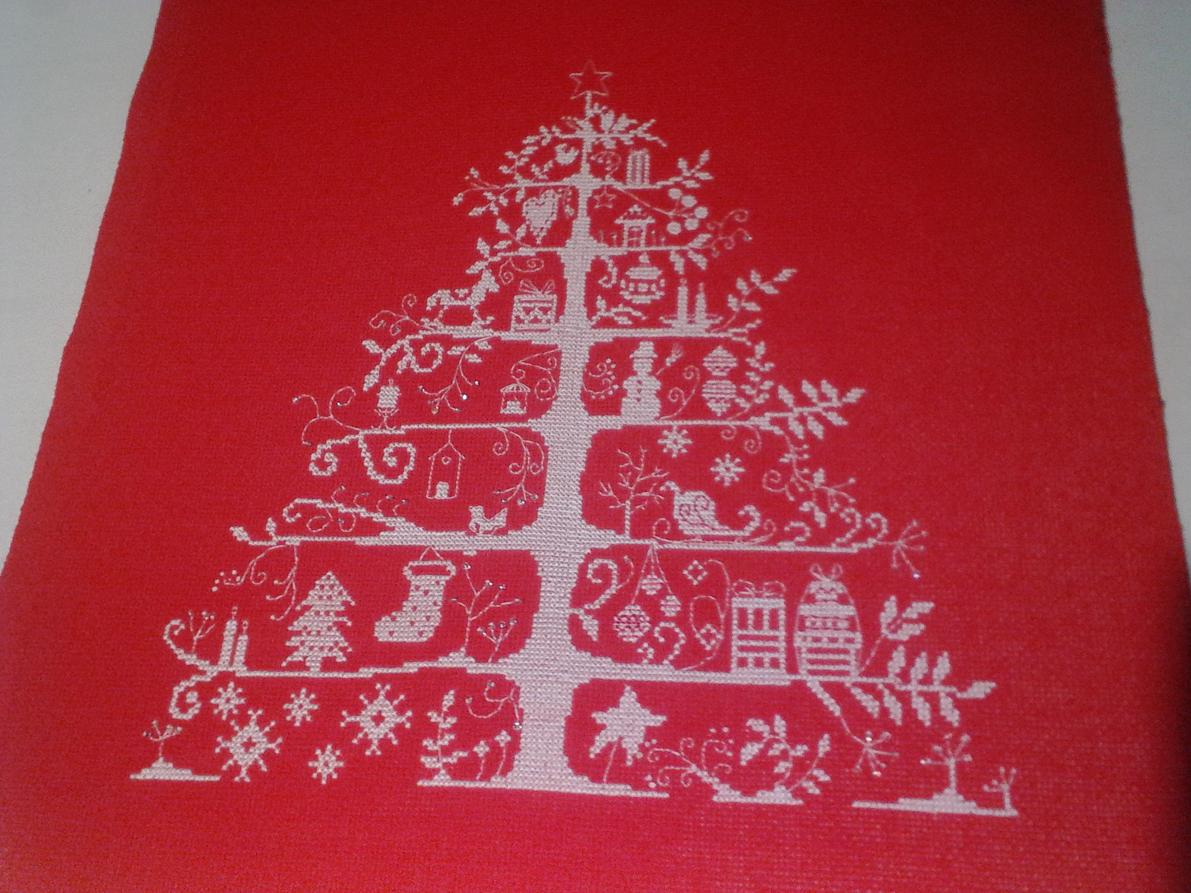 Схемы вышивок на красной канве 92