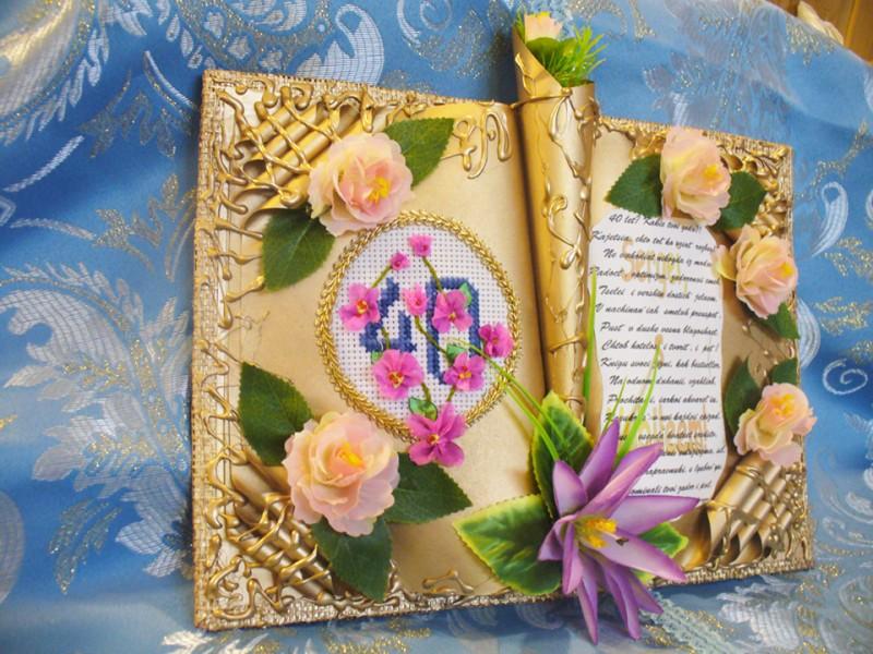Красивых, сделать открытку книгу