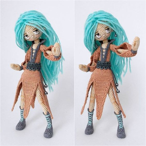 Кукла каркасная крючком схема